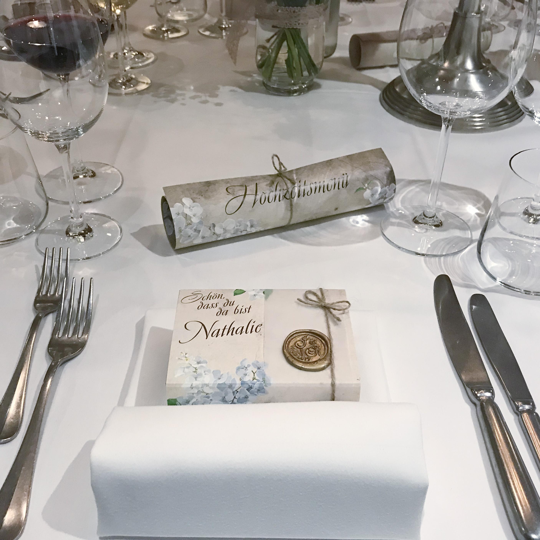 Hochzeit Gastgeschenk Menukarte