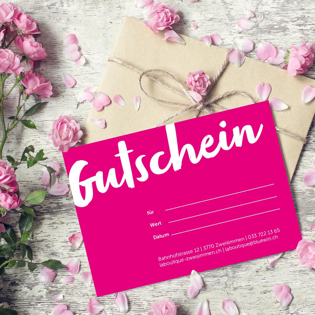 la boutique Gutschein
